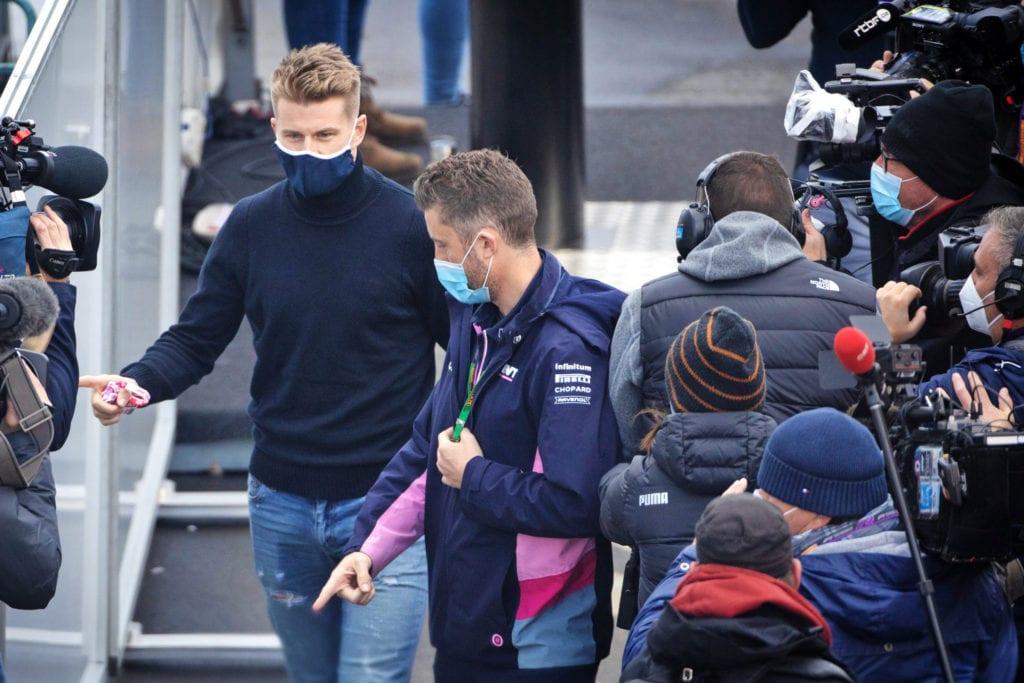 Nico Hulkenberg arrives in the paddock © XPB Images