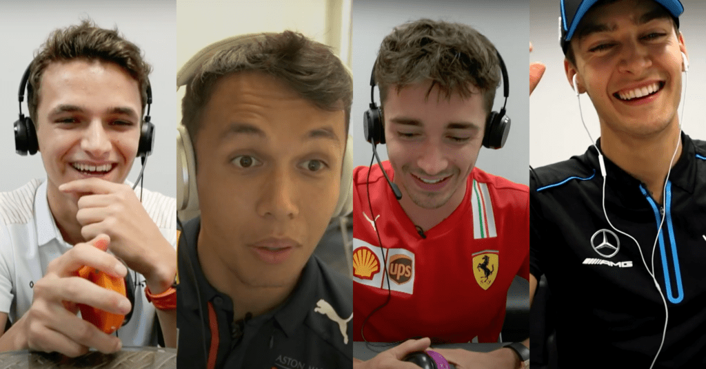 Watch Norris, Albon, Leclerc And Russell Absolutely Roast Each Other
