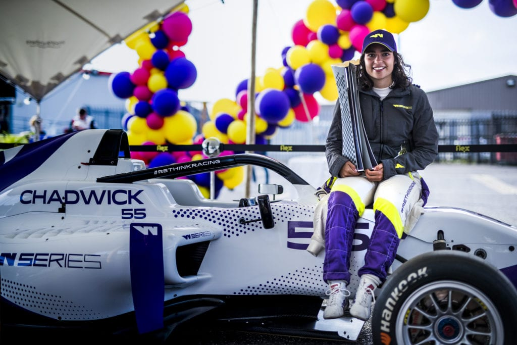 Jamie Chadwick won the inaugural drivers' title in 2019 © W Series