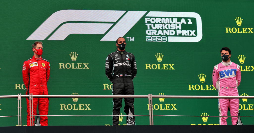 The Turkish GP Podium Was The Most Decorated In F1 History © XPB Images