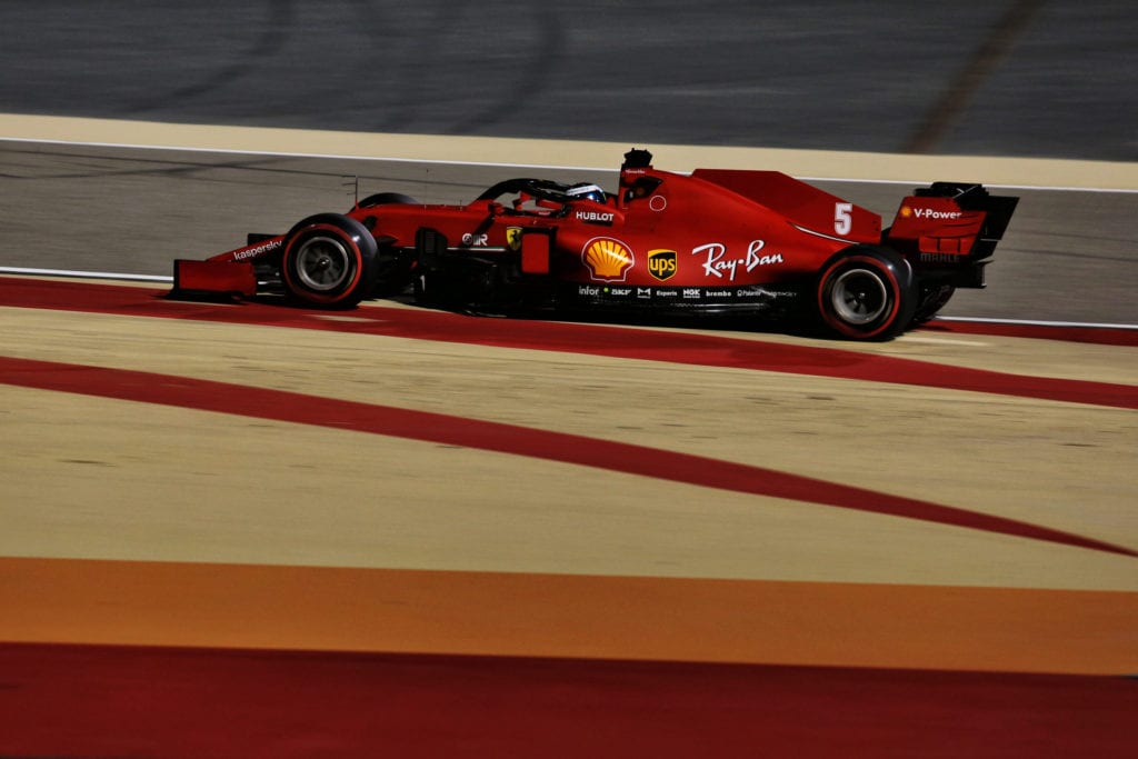 Sebastian Vettel during Sakhir Grand Prix practice © XPB Images