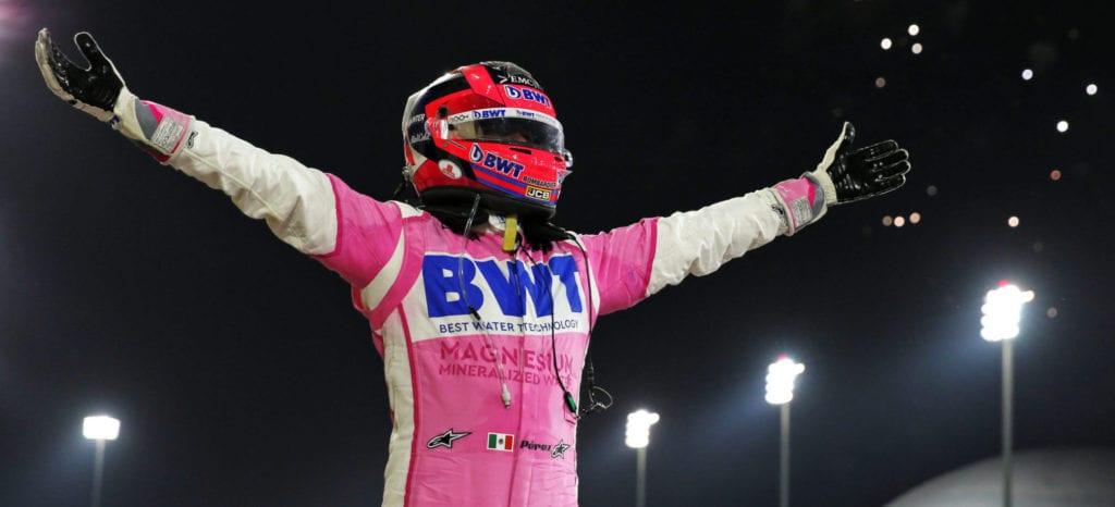 Race winner Sergio Perez © XPB Images