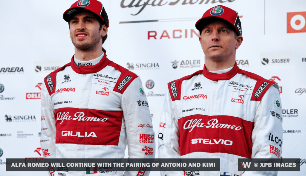 alfa romeo will continue with the pairing of Antonio and Kimi © XPB Images