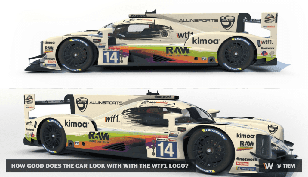 How good does the car look with with the wtf1 logo? © TRM
