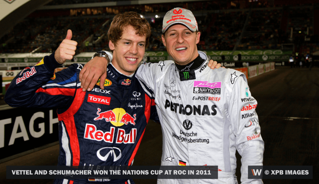 Vettel and Schumacher won the Nations Cup at roc in 2011 © XPB Images
