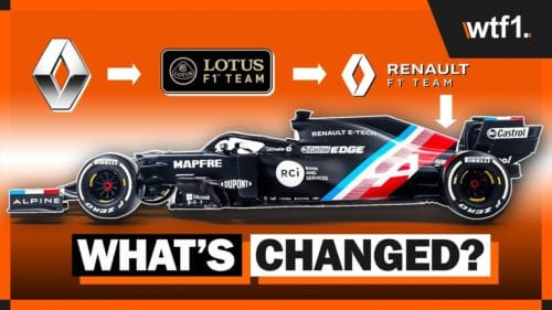 What did current F1 teams USED to be called?
