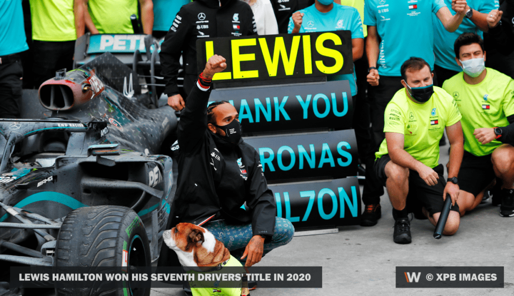 Lewis Hamilton won his seventh drivers' title in 2020 ©XPB Images