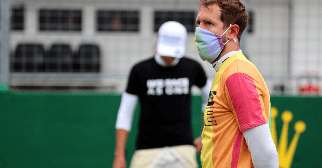 Vettel Among Drivers Given A Reprimand For Not Removing T-Shirts Before National Anthem
